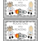 Rocketing Into Reading Goal Notebook Label