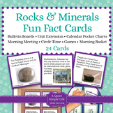 Rocks and Minerals Fact Cards -Unit Extension Activity, Bu