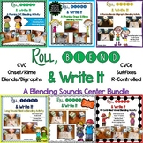 Roll, Blend & Write It:  A Blending Sounds Center Bundle