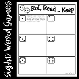 Roll, Read...Keep Game--First 100 Fry Words