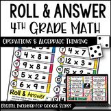 Roll and Answer Math Centers for 4th Grade Common Core *Al