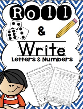 Roll and Write Numbers and ABC's