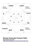 Roman Numerals Fortune Teller