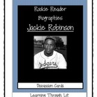 Rookie Biographies JACKIE ROBINSON - Discussion Cards