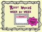 Root Words Week to Week