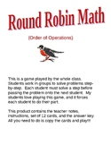 Round Robin Math (Order of Operations)