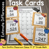 Rounding to Estimate Differences Task Cards and Recording Sheet