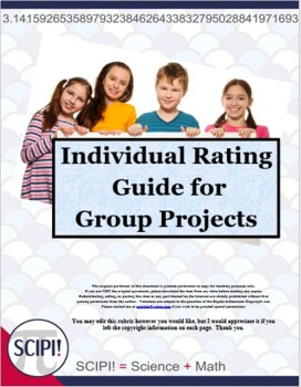 Rubric: Individual Rating Guide for Group Projects