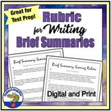 Rubric for Writing a Brief Summary