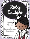 Ruby Bridges Reading Passage and Comprehension Questions