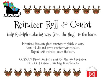 Rudolph the Reindeer's Roll and Count