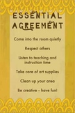 Rules / Essential Agreement Poster For Art Class
