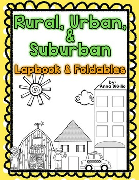 Rural, Urban, & Suburban Communities Lapbook & Foldables