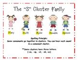S Cluster/blends Spelling/Literacy Center Activities