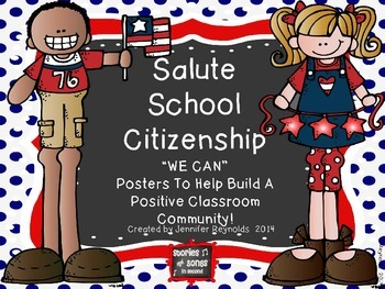 Classroom Behavior-Social Skills Poster Pack--A Salute to