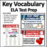 SBAC Test Prep Vocabulary Cards: Kid Friendly Language