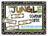 SCHEDULE CARDS for a JUNGLE ~ SAFARI CLASSROOM THEME