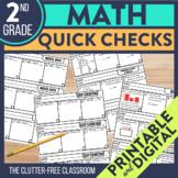 SECOND Grade TEACHER CHECKLIST for Common Core Math Standa