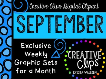 SEPTEMBER 2015 Graphics Club {Creative Clips Digital Clipart}