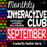 SEPTEMBER 2015 Interactive Notebook Club