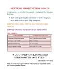 SETTING SHORT TERM GOALS-CLASSROOM FORM