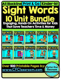 SIGHT WORDS BUNDLE {games printables flashcards activities
