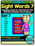 SIGHT WORDS:SET 7 {games printables flashcards activities