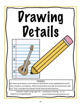 SL.1.5 First Grade Common Core Worksheets, Activity, and Poster