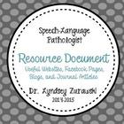 SLP Resource Document
