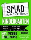 SMAD Math Fact Fluency Program *KINDERGARTEN*