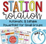 Stations Organizer PowerPoint {Automatic Rotation}