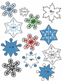 SNOWFLAKE CLIPART * COLOR AND BLACK AND WHITE