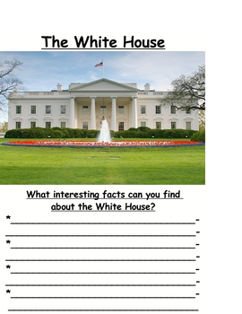SOCIAL STUDIES White House Government Study Chart Printable