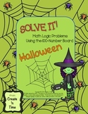 SOLVE IT! Halloween Math Logic Problems Using 100-number Board