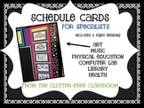 SPECIALISTS SCHEDULE CARDS classroom decor bulletin board