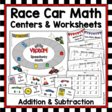 SPEEDWAY MATH Addition & Subtraction {Racetrack Theme}