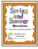 ELA- SPRING & SUMMER QUESTIONS