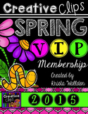 SPRING VIP Membership 2015 {Creative Clips Digital Clipart}