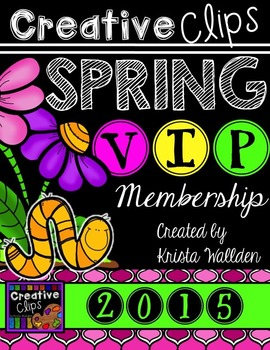 SPRING VIP Membership 2015 {Creative Clips Digital Clipart}
