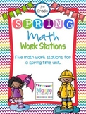 SPRINGTIME Math Stations-2nd Grade