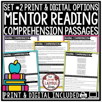 STAAR Reading Mentor Text Set #2 Warm Ups {Grades 3-5 Answer Keys Included}