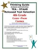 STAAR Release Analysis & Activities: Carmen, Grade 4th