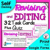 STAAR Revising and Editing Task Cards Plus Free Bonus Quiz