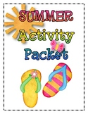 SUMMER Language Arts and Math Activity Packet {Common Core}
