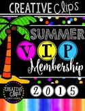 SUMMER VIP Membership 2015 {Creative Clips Digital Clipart}