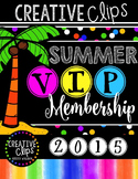 SUMMER VIP Membership 2015 {Creative Clips Digital Clipart}