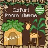Safari Deluxe Room Theme Classroom Decor Set {plus editabl