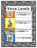 Safari/Zebra/Jungle Themed VOICE LEVEL Chart
