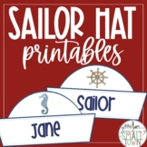 Nautical Sailor Hats Printable- Editable Text!