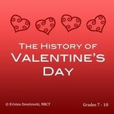 Close Reading St. Valentine's Day - History, Vocabulary, E